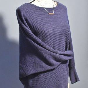 Kenar Dolman Sleeve Ribbed Sweater